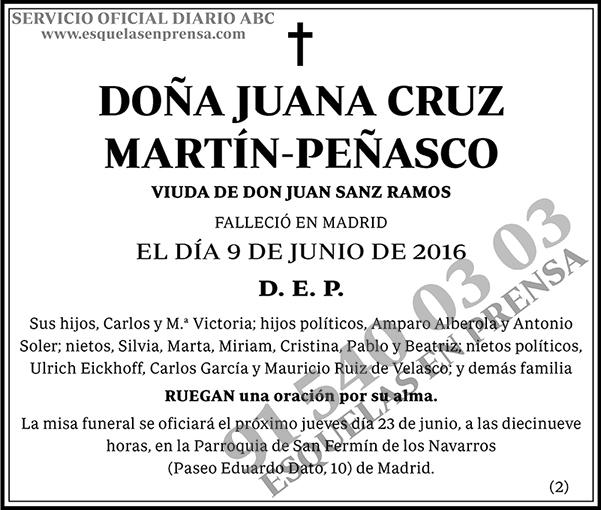 Juana Cruz Martín-Peñasco